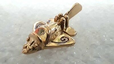 Gold Over Sterling Silver Ancient Maya Airplane Pin