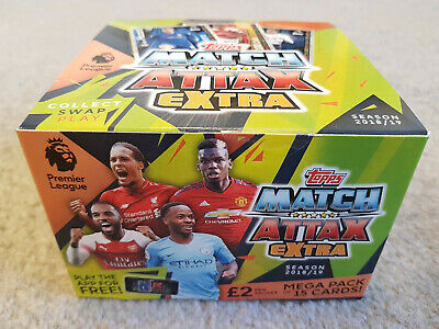 Match Attax Extra EPL 2018/19 Football Trading Cards 24x £2 Packets FULL BOX NEW