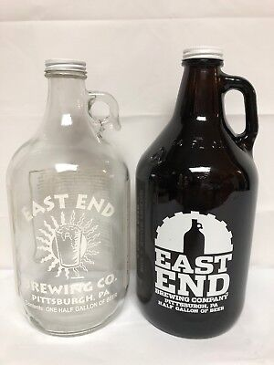 2 East End Brewing Co Pittsburgh PA 64 Oz Growlers Reusable Homebrewing Jugs EUC