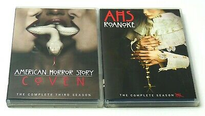 AMERICAN HORROR STORY COMPLETE Seasons 3 COVEN & 6 ROANOKE DVD Lot VG Cond. FAST