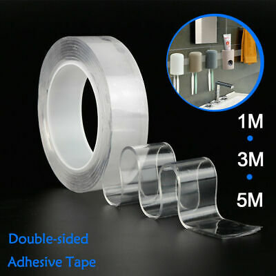 3/5CM Magic Clear Double-sided Tape Traceless Washable Adhesive Nano 1m/2m/3m/5m