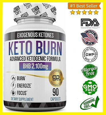 Keto Burn Keto Pills - 3X Dose 2100Mg #1 Best Patented & Proven Fast Weight Loss