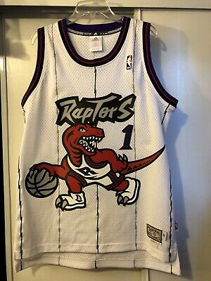 quality design 359dc b3ac6 NWT THROWBACK HARDWOOD Jersey TRACY McGRADY 1 Toronto ...