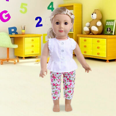 Handmade Doll Clothes Tops Coat Pants For 18inch Doll Kid's Toy Girl Toys I9P9