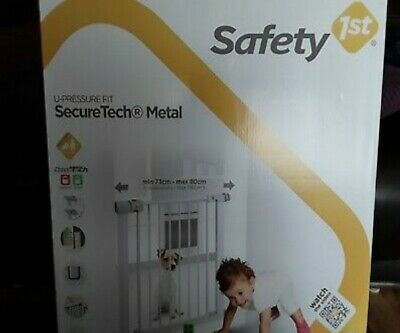 Safety 1st Secure Tech Simply Close Metal Gate White