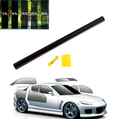 1%/5%/15%/25%/35% VLT Car Home Glass Window TINT TINTING Film Vinyl Roll RS