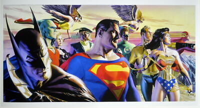 JUSTICE LEAGUE: IN THE LIGHT OF JUSTICE PRINT Alex Ross DC Batman