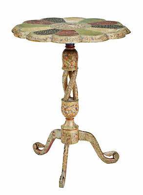 Late 19Th Century Kashmir Polychrome Occasional Table