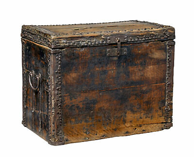 18Th Century Chinese Hard Wood Coffer Chest