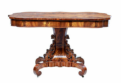 19Th Century Danish Flame Mahogany Center Table