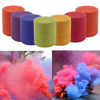 Colorful Round Smoke Cake Bomb Photography Stage Aid Effect Show Magic Toy Gifts