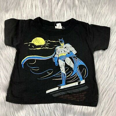 Vintage 1989 Toddler Black DC Comics Batman T Shirt