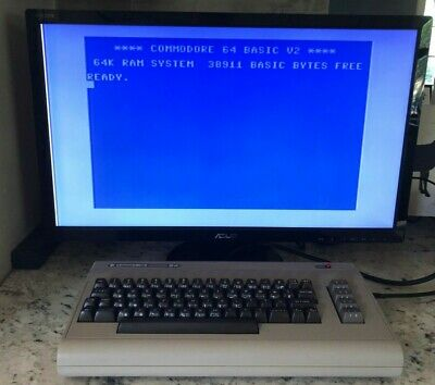 Commodore 64 Computer- C64 TESTED and CLEANED! Excellent.