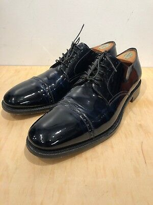 3b24c6d8fbc4b salvatore ferragamo Patent leather mens shoes Tramezza Midnight blue Hand  Made