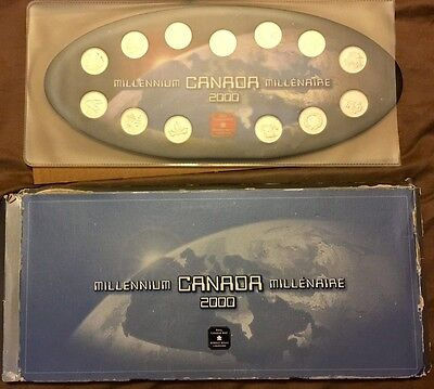 CANADA 2000 MILLENNIUM SET OF 25 CENTS COINS from R C Mint - Uncirculated