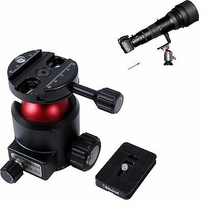 Ball Head Panoramic Base + Quick Release Plate for Large Camera MAX. LOAD 30KG