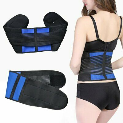 Lumbar Lower Back Support Belt Brace Strap, Pain Relief, Posture Waist Trimmer