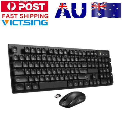 Victsing Microsoft Wireless Keyboard and Mouse Combo for Desktop Laptop PC USB
