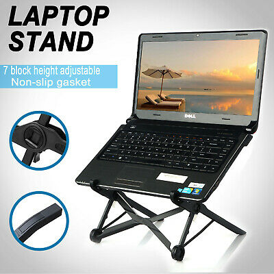 Adjustable Folding Laptop Stand Holder Folding Notebook Table Desk Mount Holder
