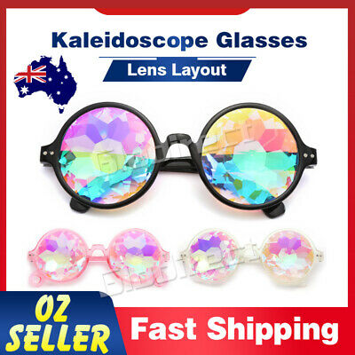 Kaleidoscope Glasses Rave Festival EDM Sunglasses DJ Lens Party Show Concert AU