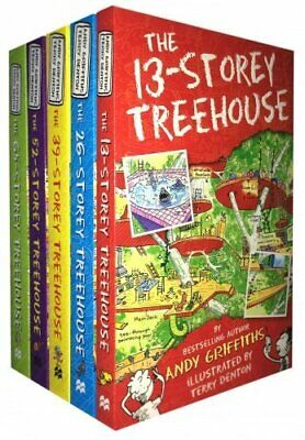 The 13-Storey Treehouse Collection 5 Books Set Andy Griffiths Childrens Stories