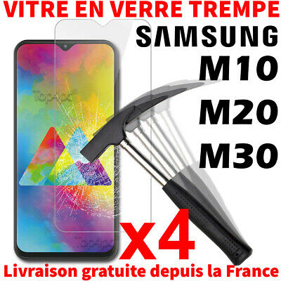 Verre Trempé Samsung Galaxy M10 M20 M30 Protection Écran Vitre Film Screen Glass