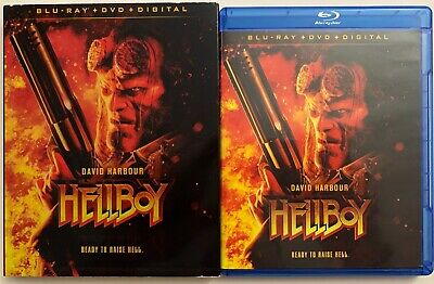 Hellboy 2019 Blu Ray Dvd 2 Disc Set + Slipcover Sleeve Free World Wdie Shipping