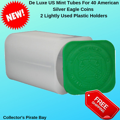 US Mint 20 American Silver Eagle Coins Storage Tubes Holders PCGS NGC Pack of 2