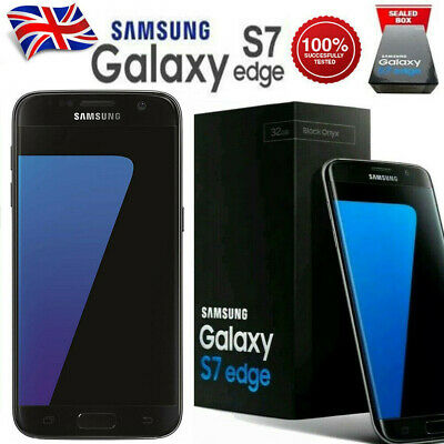 New Samsung Galaxy S7 edge SM-G935F 32GB 4G Sim Unlocked Free Smartphone - Black