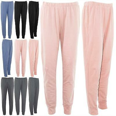 Womens Ladies Fleece Pants Gym Trousers Elasticated Waist Bottom Joggers Pants