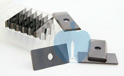24.7 x 12 x 1.5mm Reversible Knives Solid Carbide Replacement Tips 10Pcs (1Box)
