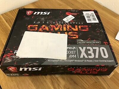 MSI X370 GAMING plus motherboard Ryzen AMD 4 DDR4