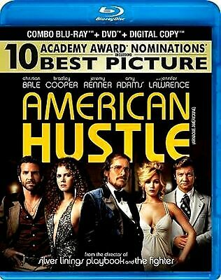 NEW BLU RAY + DVD - AMERICAN HUSTLE - Christian Bale, Bradley Cooper, Amy Adams,