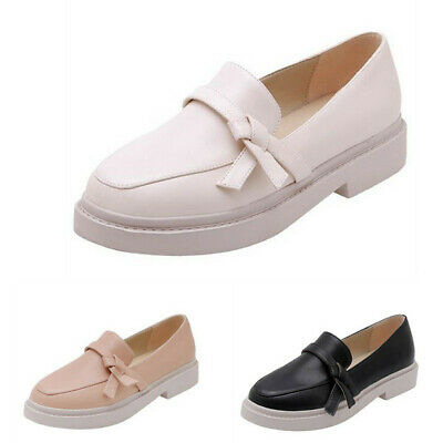 Women Ladies Round Toes Nurse Slip On Casual Flats Comfy Sweet Shoes Loafers