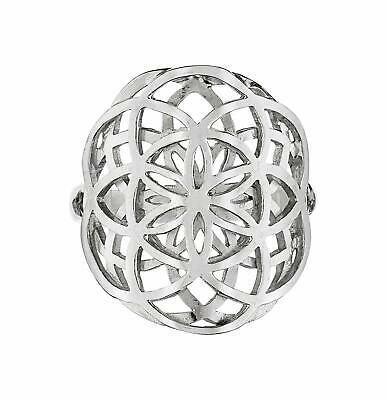 Dabble Seed of Life Ring Sterling Silver 925 Sacred Geometry Flower of (Select)
