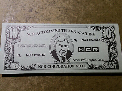$10 Ncr Atm Test Currency,Series 1983 Dayton,Ohio -Pack Of 48 Notes,Crisp