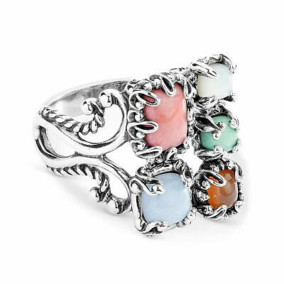 Carolyn Pollack Sterling Silver Orange Carnelian, Blue Lace Agate and   (Select)