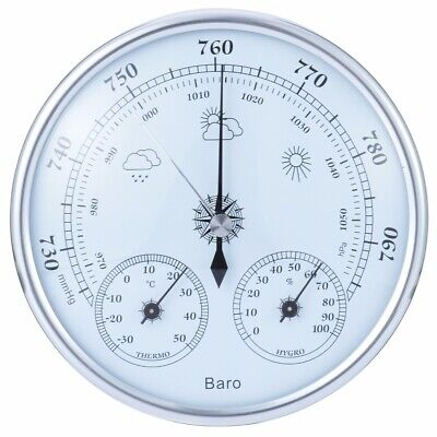 Analog Wall Hanging Weather Station 3 IN 1 Barometer Thermometer Hygrometer US