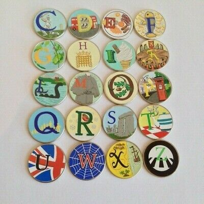Unc Coloured Alphabet 10P Coins 2018 + 2019 Loads Of Letters To Choose From A-Z
