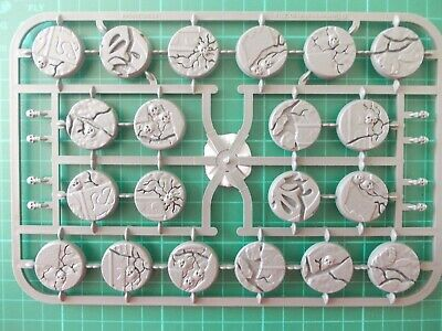 Warhammer Age of Sigmar - 20 x 25mm Shattered Dominion bases, Base decor