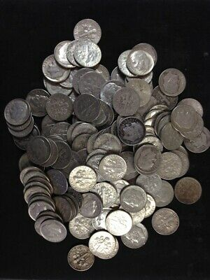 $3 Face Value Roosevelt Dimes 1946-64 90% Silver (Lot Of 30 Coins) (Y156)