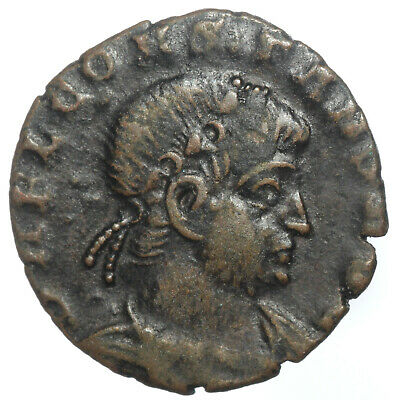ROMAN BRONZE COIN FOLLIS CONSTANS AS AUGUSTUS ROME MINT AE13 1,19g RARE