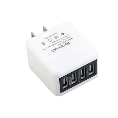 4-Port USB Wall Charger Station Travel AC Power Adapter for Universal Cell Phone