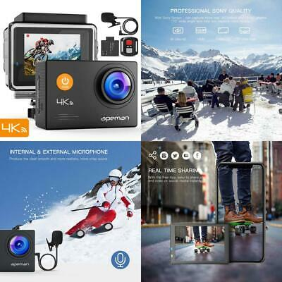 APEMAN Action Camera 4K WiFi 16MP Waterproof Sports Underwater 40M