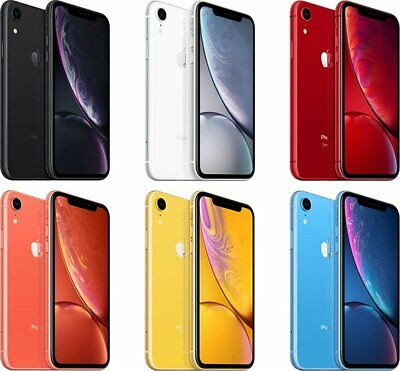 Apple Iphone XR 64GB Unlocked GSM+CDMA A1984 RED~BLACK~WHITE~BLUE 6.1 4G LTE