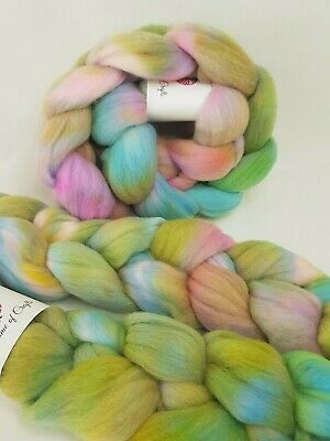 Hand dyed Merino roving, wool top, 100 g, SUMMER HOLIDAYS