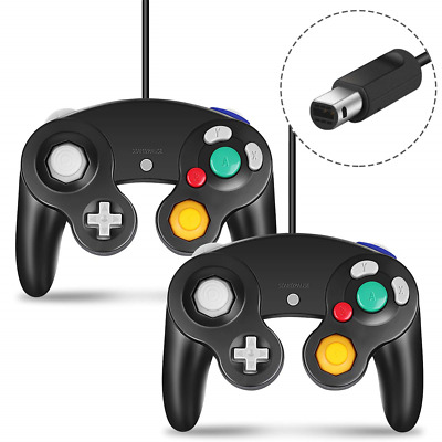 Gamecube Controller, CIPON 2 Pack Wired Controllers for Nintendo Gamecube NGC