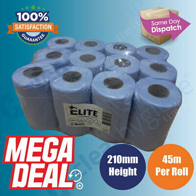 12 rolls ACT Blue Centre feed Rolls Embossed 2ply Wiper Paper Towel