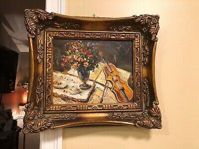 Fancy Heavy Victorian Picture BEAUTIFUL - Size 15x13