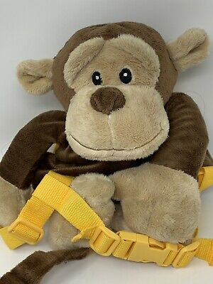 Animal Planet Monkey Plush Backpack Bag Harness With Toddler Safety Leash
